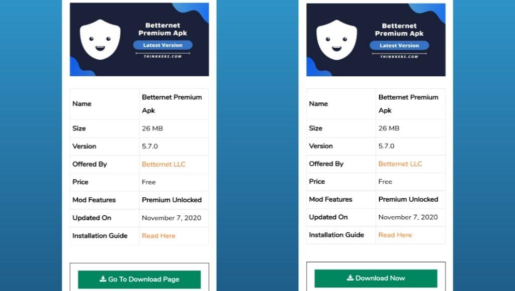 Betternet Premium Apk